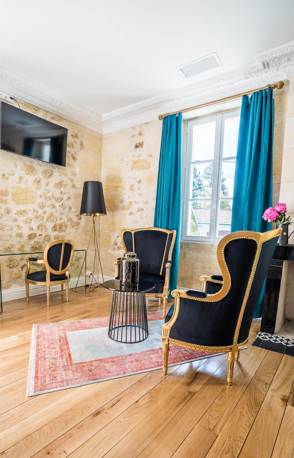 salle de réception château grand arnaud chambres d'hôtes réception et séminaires bordeaux